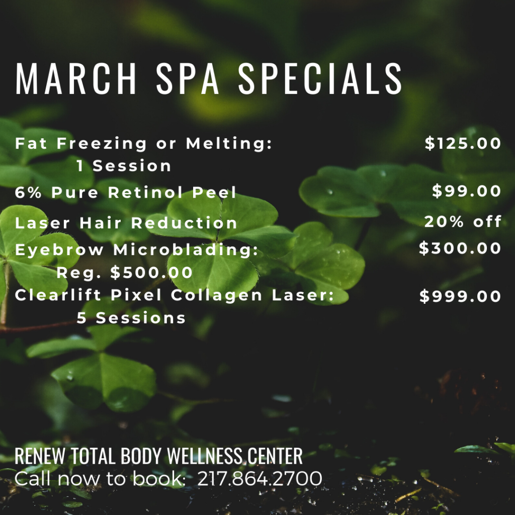 March Spa Specials at Renew